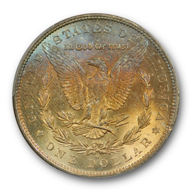 1879 O $1 Morgan Dollar PCGS MS 64 Uncirculated CAC Approved Toned !