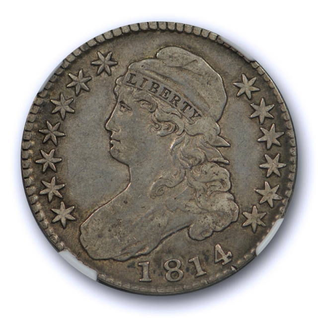 1814 50c Capped Bust Half Dollar NGC VF 25 Very Fine to Extra Fine CAC Approved Nice !