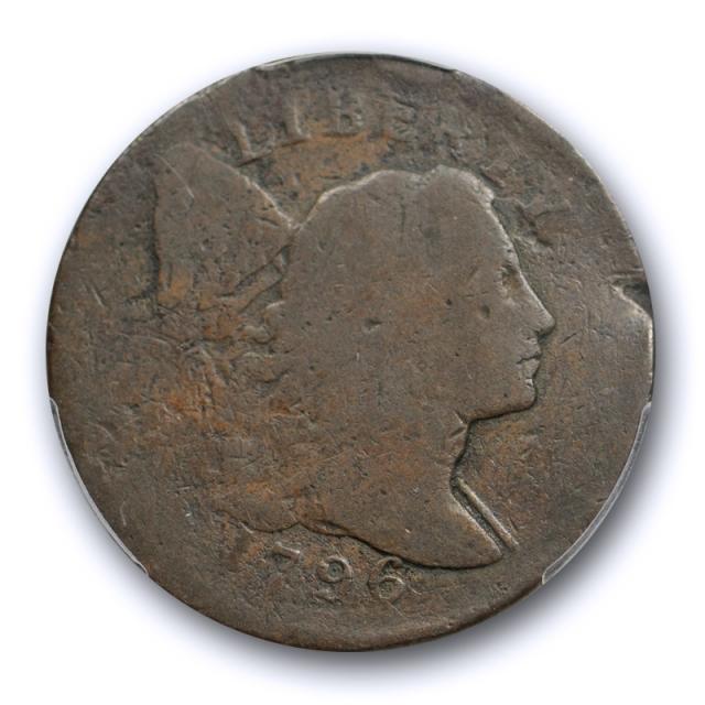 1796 1C Liberty Cap Large Cent PCGS FR 2 Sheldon 89 S Tough Key Date !