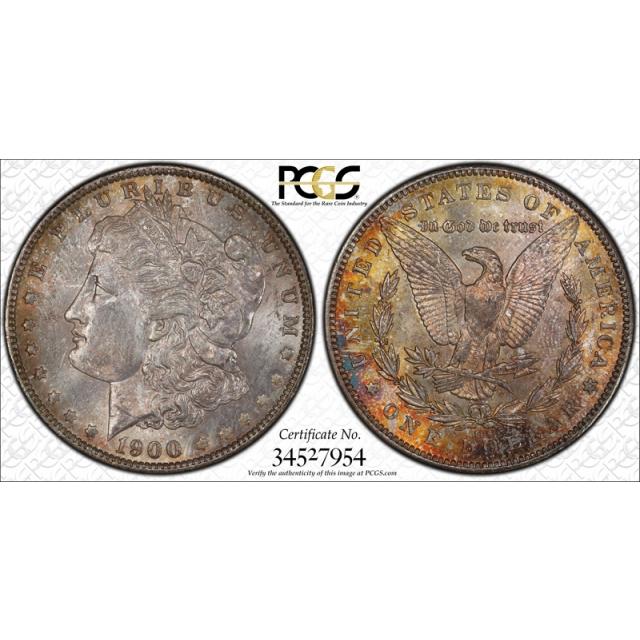 1900 O/CC $1 Morgan Dollar PCGS MS 64 Uncirculated O Over CC Toned Cert#7954
