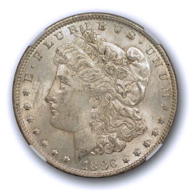 1886 O $1 Morgan Dollar NGC MS 61 Uncirculated CAC Approved Crusty Original Toned