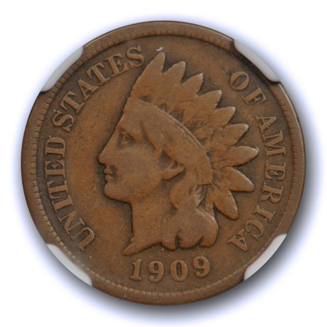 1909 S 1c Indian Head Cent NGC F 12 Fine San Francisco Mint Key Date San Fran Tough