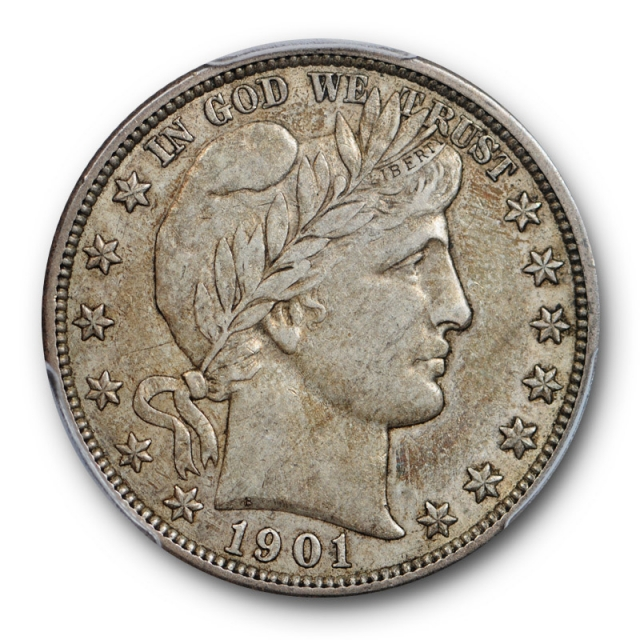 1901 O 50C Barber Half Dollar PCGS XF 45 Extra Fine to AU CAC Approved