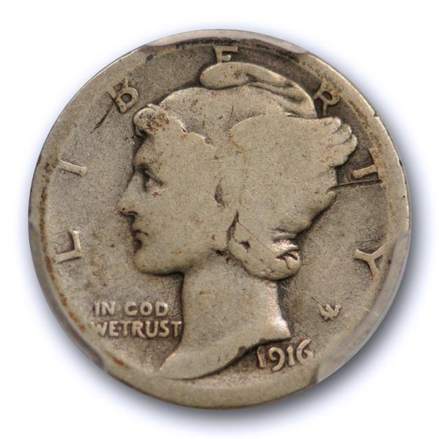 1916 D 10C Mercury Dime PCGS G 4 Good Denver Mint Key Date Original Cert#3697