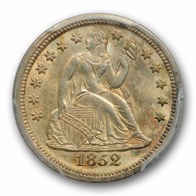 1852 10C Seated Liberty Dime PCGS MS 63 Uncirculated Better Date Cert#7534