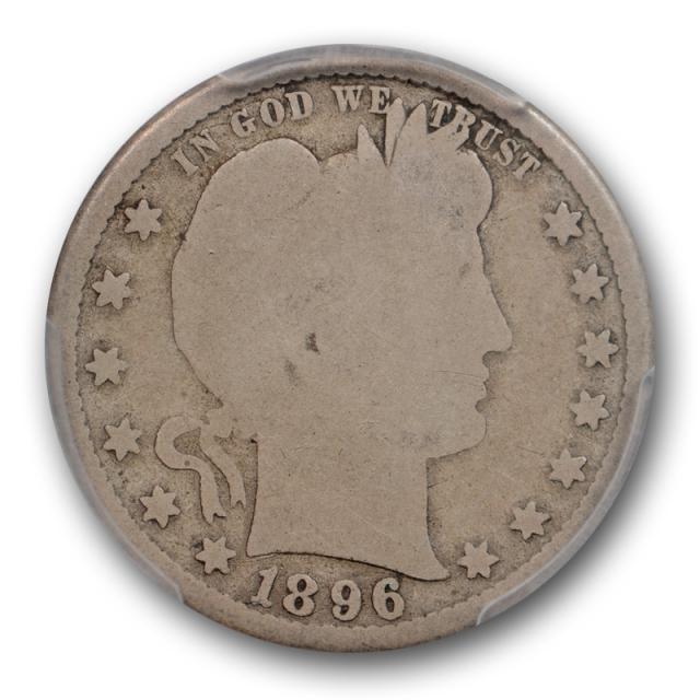 1896 S 25C Barber Quarter PCGS AG 3 About Good Key Date San Francisco Mint Cert#9015