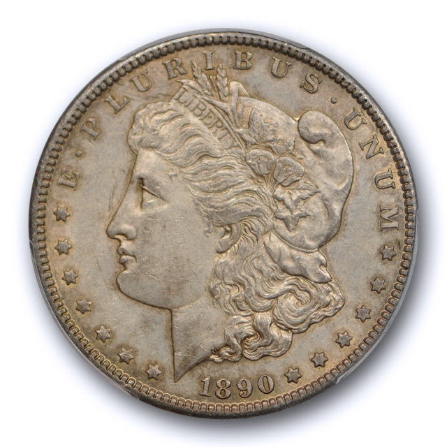 1890 CC $1 Morgan Dollar PCGS AU 58 About Uncirculated Carson City Mint Toned