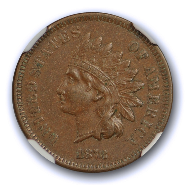 1873 1c Closed 3 Indian Head Cent NGC AU 55 BN About Uncirculated Nice