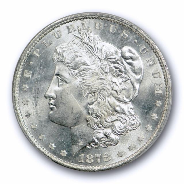 1878 $1 7TF Reverse of 1879 Morgan Dollar PCGS MS 63 Uncirculated Blast White