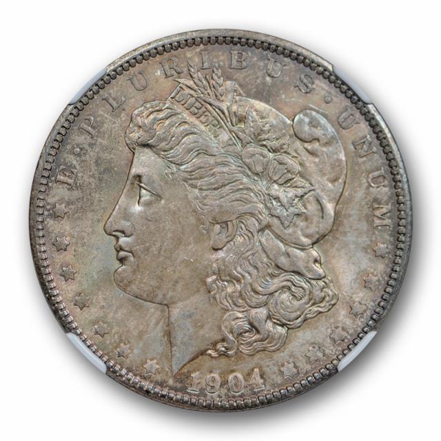 1904 O $1 Morgan Dollar NGC MS 64 Uncirculated CAC Approved Toned Original Cert#2123