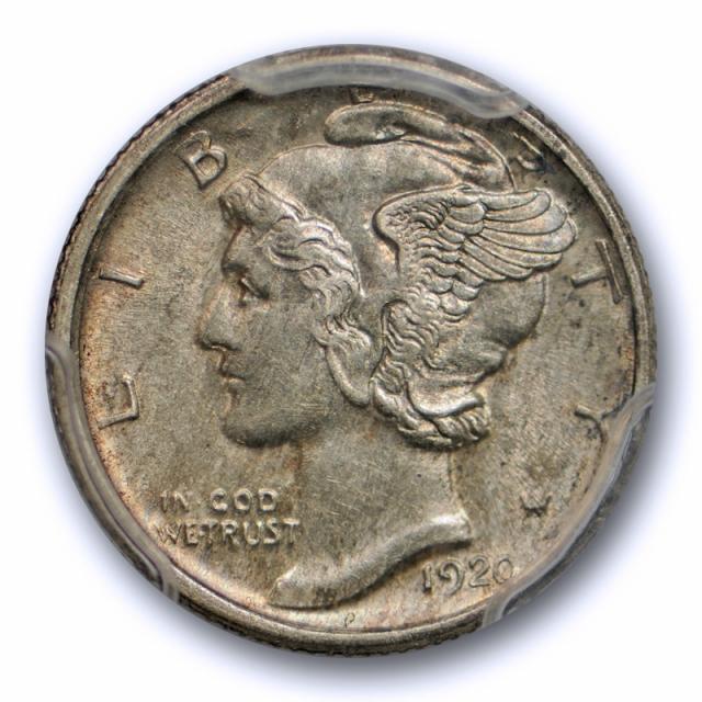 1920 S 10C Mercury Dime PCGS AU 58 About Uncirculated Better Date Original