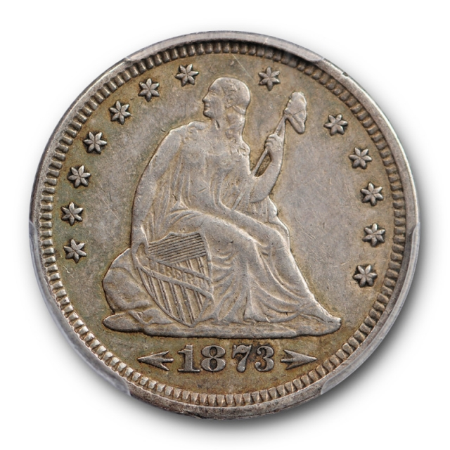 1873 25C Arrows Seated Liberty Quarter PCGS XF 45 Extra Fine to About Uncirculated
