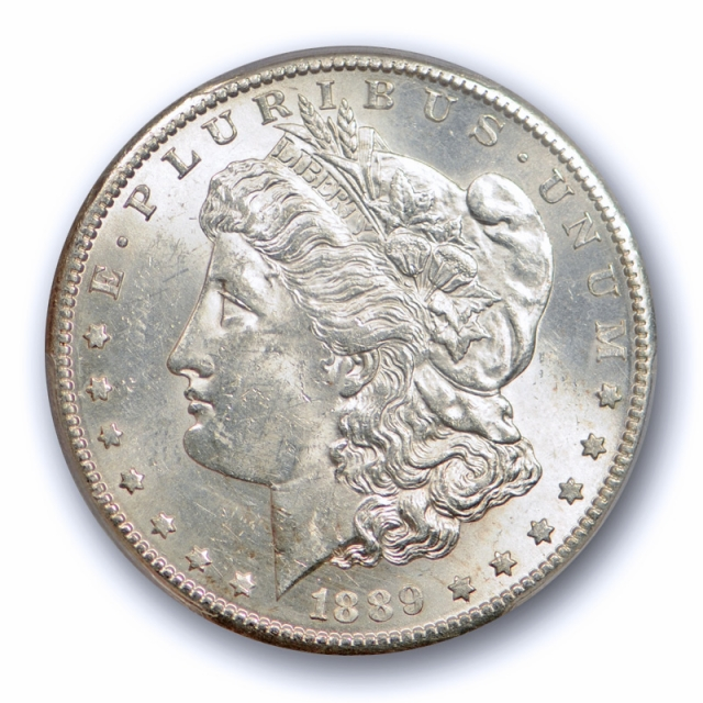1889 S $1 Morgan Dollar PCGS MS 62 Uncirculated Better Date Nice White Coin