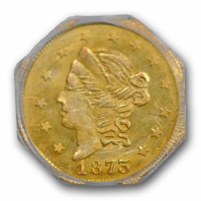 1873 50C BG-915 California Fractional Gold Piece PCGS MS 63 Uncirculated Attractive