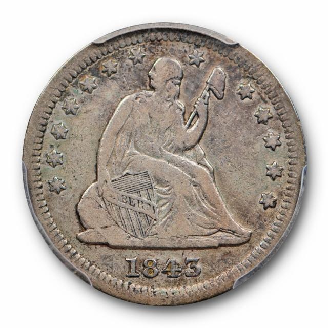1843 O 25C Large O FS-501 Liberty Seated Quarter PCGS F 12 Fine Cert#6830