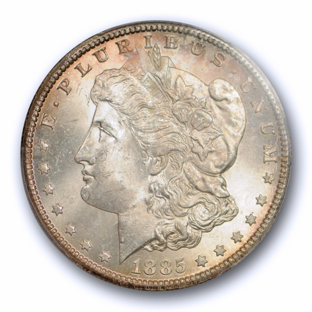 1885 CC $1 Morgan Dollar PCGS MS 64 Uncirculated CAC Approved Carson City Mint Cert#2751