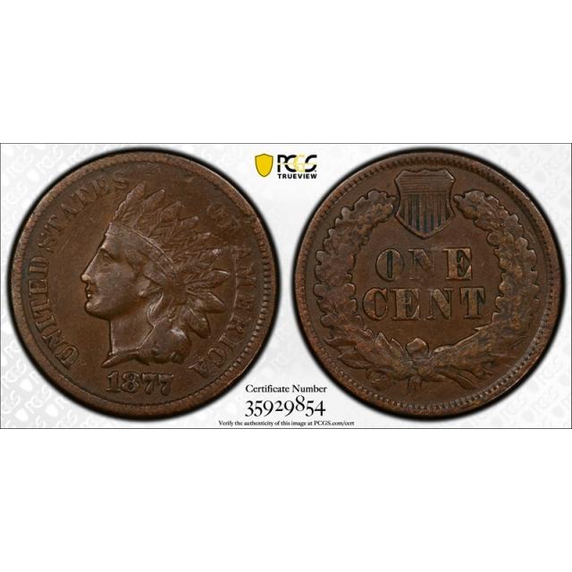 1877 1C Indian Head Cent PCGS VF 20 Very Fine Key Date Looks Better ! Tough Grade
