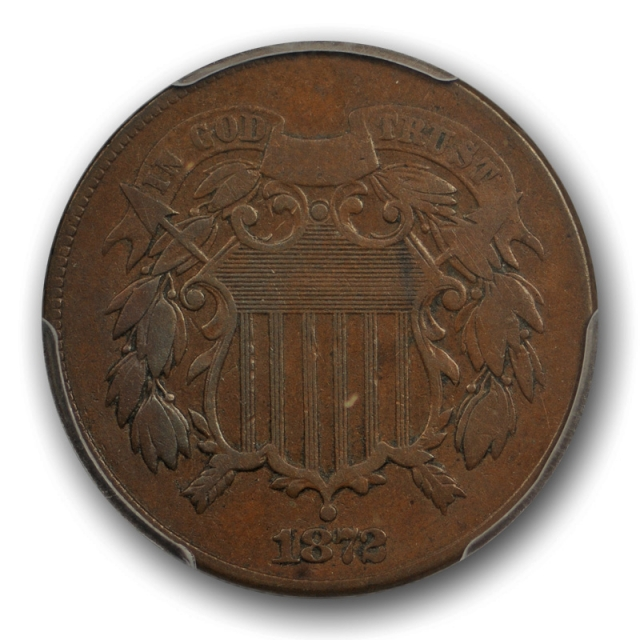 1872 2C Two Cent Piece PCGS F 15 Fine to Very Fine Key Date Low Mintage US Coin
