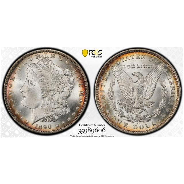 1890 O $1 Morgan Dollar PCGS MS 65 Uncirculated New Orleans Mint Lustrous Gem! Cert#9606