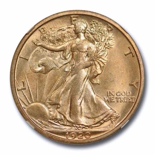 1920 D 50c Walking Liberty Half Dollar NGC MS 63 Uncirculated Golden Toned !