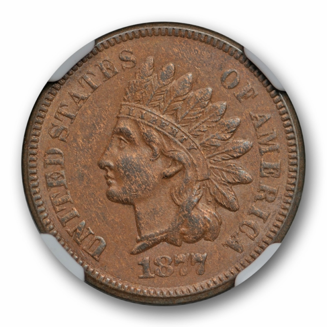 1877 1c Indian Head Cent NGC AU 55 About Uncirculated to Mint State Key Date Original
