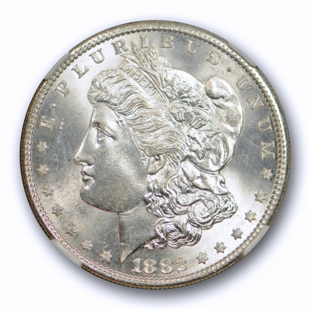 1882 S $1 Morgan Dollar NGC MS 66 Uncirculated Blast White & Lustrous Coin