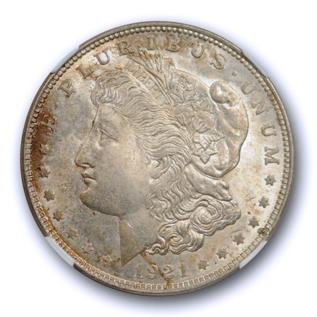 1921 $1 Morgan Dollar NGC MS 65 Uncirculated Crusty Original Toned Coin Cert#2025