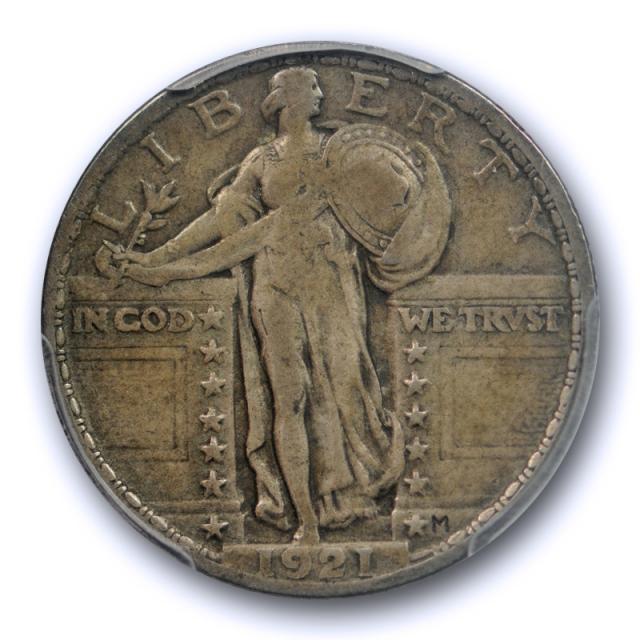 1921 25C Standing Liberty Quarter PCGS VF 25 Very Fine to Extra Fine Key Date Original Toned