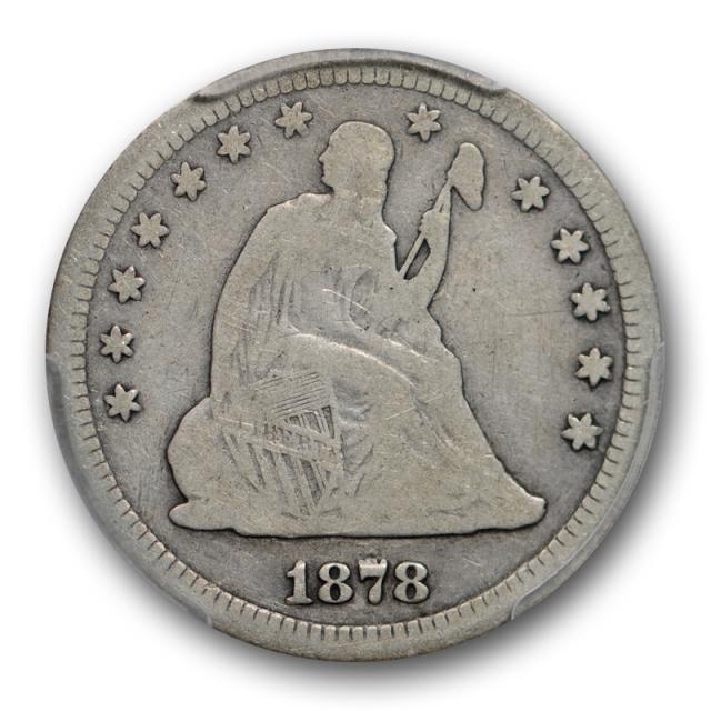 1878 S 25C Seated Liberty Quarter PCGS G 4 Good Key Date Pop 2 !
