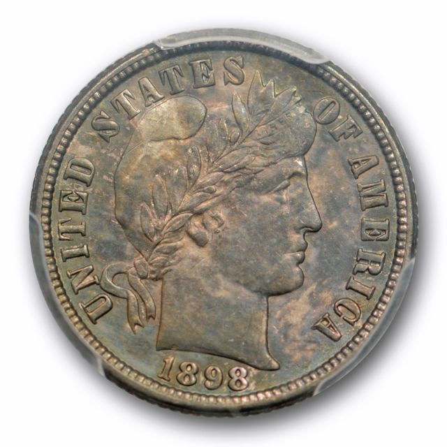 1898 O 10C Barber Dime PCGS MS 62 Uncirculated New Orleans Toned Original