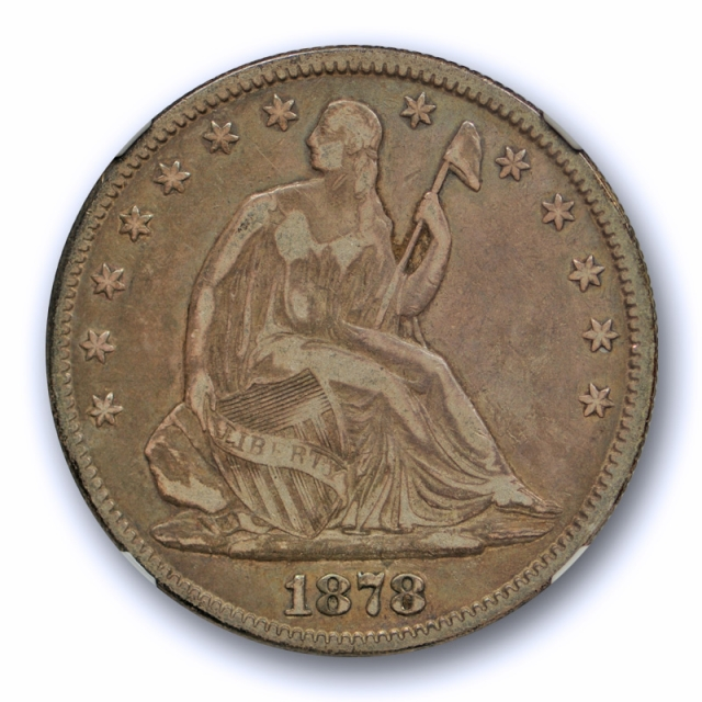 1878 50c Seated Liberty Half Dollar NGC VF 25 Very Fine to Extra Fine