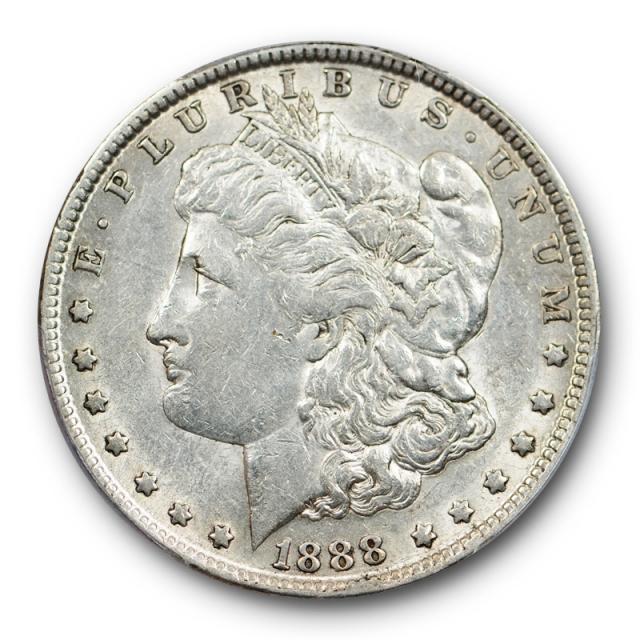 1888 O $1 Doubled Die Obverse VAM 4 Morgan Dollar PCGS AU 50 Hot Lips Variety