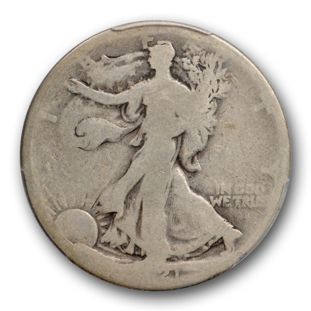 1921 50C Walking Liberty Half Dollar PCGS AG 3 About Good Key Date Original