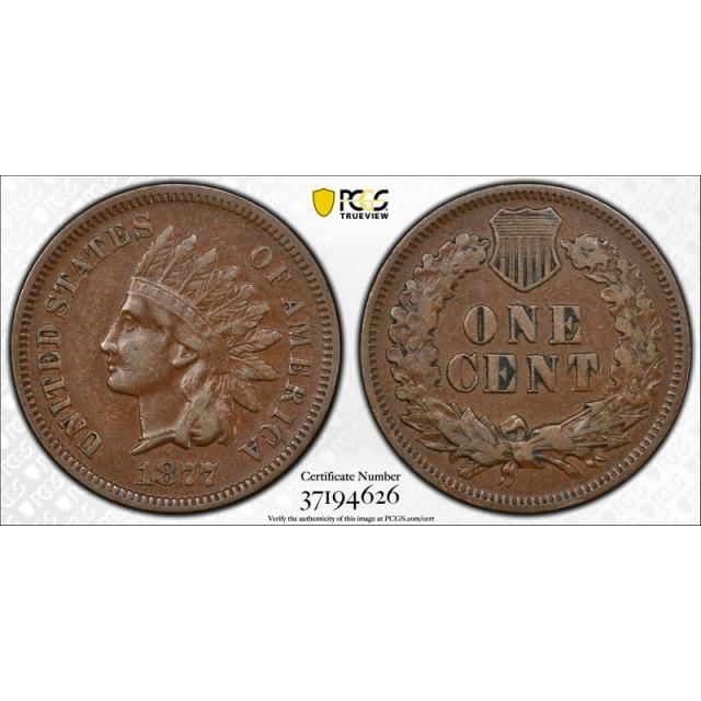 1877 1C Indian Head Cent Proof PCGS PR 30 PF Low Mintage Key Date !
