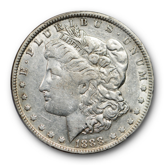 1888 O $1 Doubled Die Obverse Morgan Dollar PCGS XF 45 Hot Lips Variety