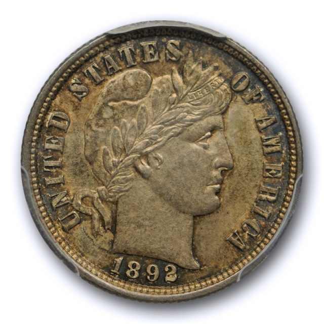 1892 10C Barber Dime PCGS MS 62 Uncirculated Crusty Original First Year of Issue