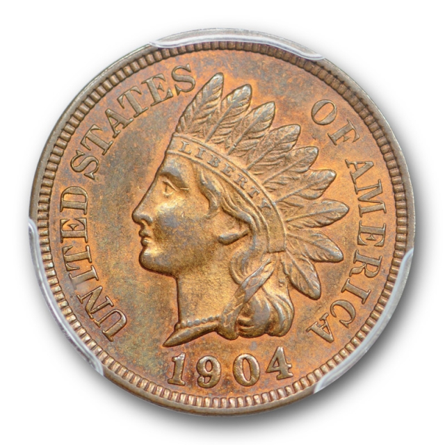 1904 1C Indian Head Cent PCGS MS 64 RB Uncirculated Red Brown Original