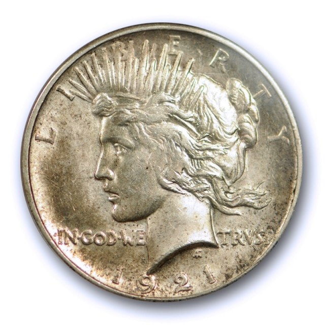1921 $1 Peace Dollar High Relief PCGS MS 62 Uncirculated Key Date Sharp Coin