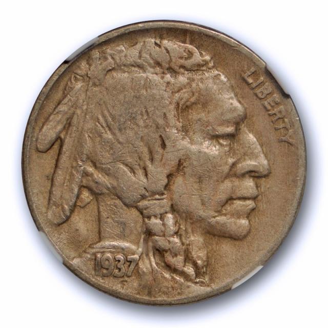 1937 D 5c Three Legged Buffalo Head Nickel NGC VF 30 3 Legs Very Fine to XF