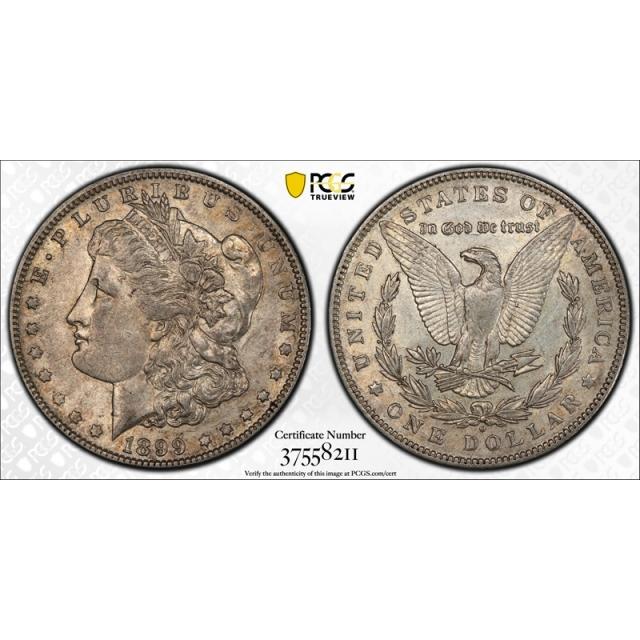 1899 O $1 Micro O Morgan Dollar PCGS AU 50 About Uncirculated VAM 32