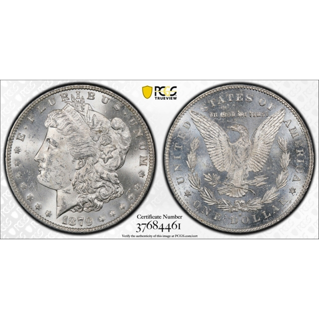 1879 S $1 Reverse of 1878 Morgan Dollar PCGS MS 63+ CAC Approved Nice !