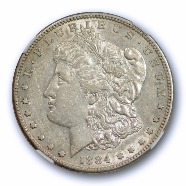 1884 S $1 Morgan Dollar NGC AU 53 About Uncirculated Better Date Tough Coin !