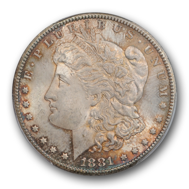 1881 CC $1 Morgan Dollar PCGS MS 64 Uncirculated Carson City Mint Toned Original
