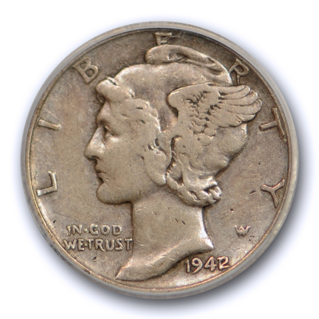 1942/1 10c Mercury Dime ICG VF 35 Very Fine to Extra Fine Overdate 1942/41