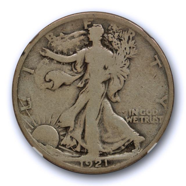 1921 50c Walking Liberty Half Dollar 50C NGC VG 8 Very Good Key Date !