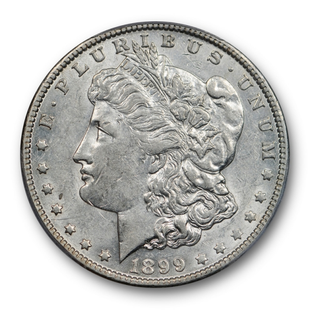 1899 O $1 Micro O Morgan Dollar PCGS AU 53 About Uncirculated Site White Approved !