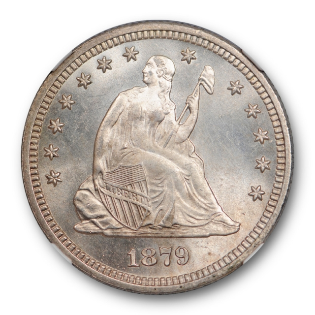 1879 25c Seated Liberty Quarter NGC MS 67 Uncirculated High End Lustrous Gem !