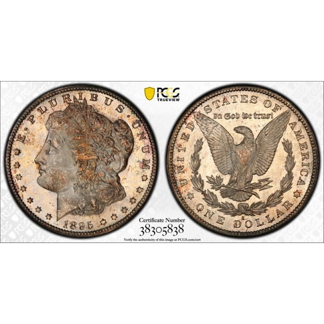 1895 S Morgan Dollar PCGS MS 65+ Uncirculated CAC Approved Exceptional Coin !