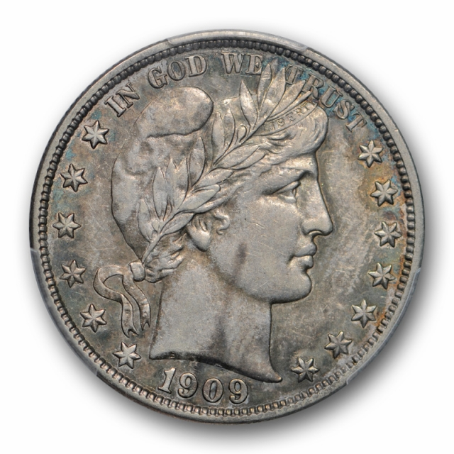 1909 S 50C Barber Half Dollar PCGS XF 40 Extra Fine Better Date San Francisco Mint