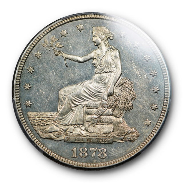 1878 S T$1 Trade Dollar PCGS MS 61 Uncirculated Looks Proof Like ! PL